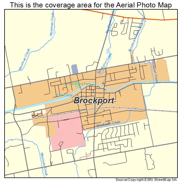 Aerial Photography Map of Brockport, NY New York