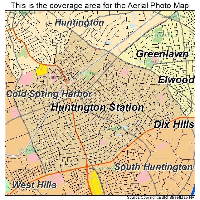 Huntington New York Map.Aerial Photography Map Of Huntington Station Ny New York