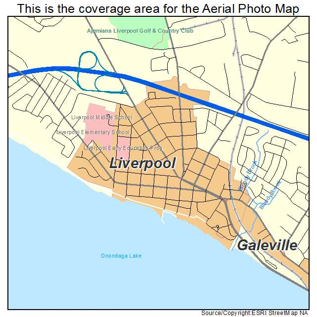 Liverpool Ny Map Aerial Photography Map of Liverpool, NY New York