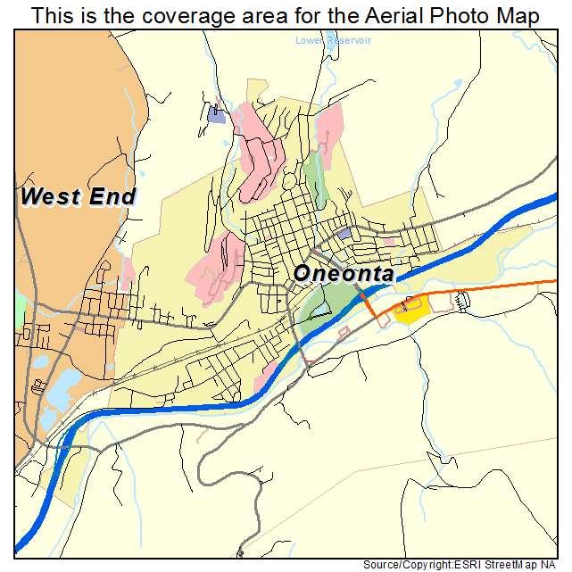 Oneonta, NY location map
