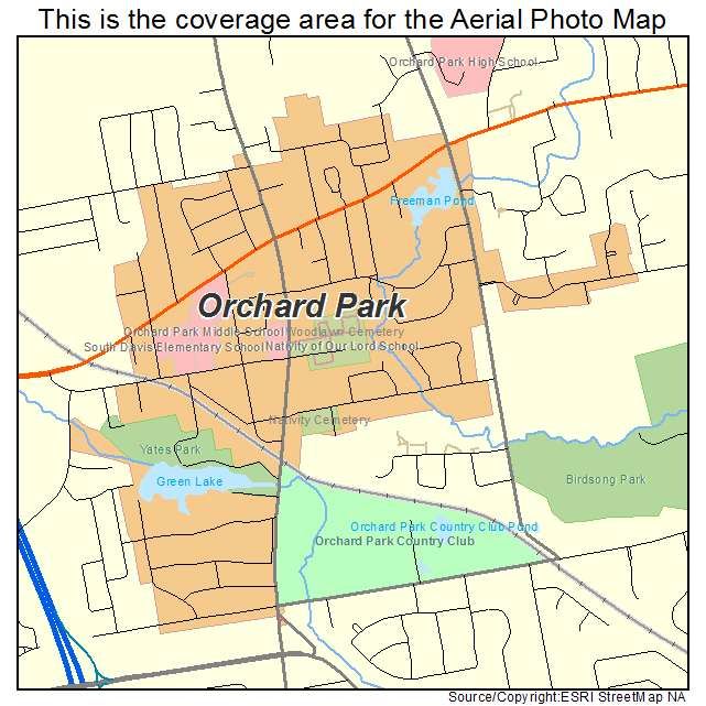 Map Orchard Park Ny Aerial Photography Map of Orchard Park, NY New York