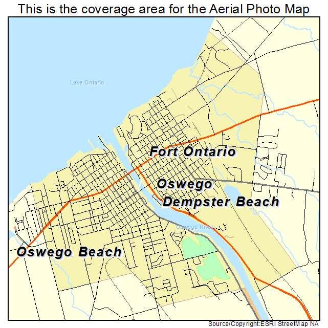 Map Of New York Oswego.Oswego Ny New York Aerial Photography Map 2015