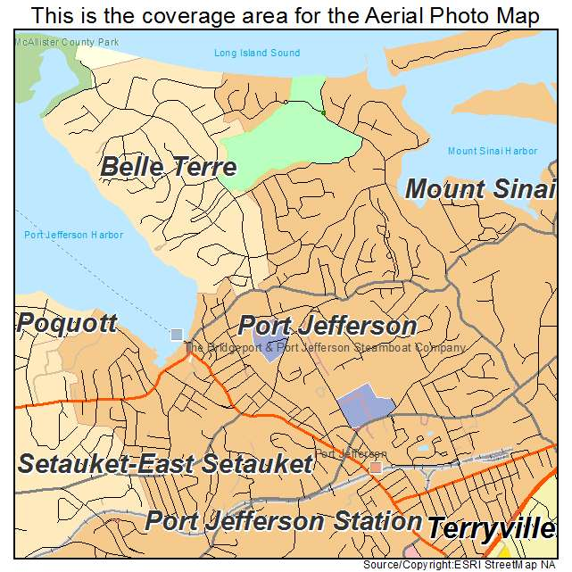 Port Jefferson Station (N United States  city images : port jefferson ny new york aerial photography map port jefferson