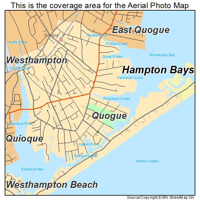 Map Of Quogue New York.Quogue Ny New York Aerial Photography Map 2015