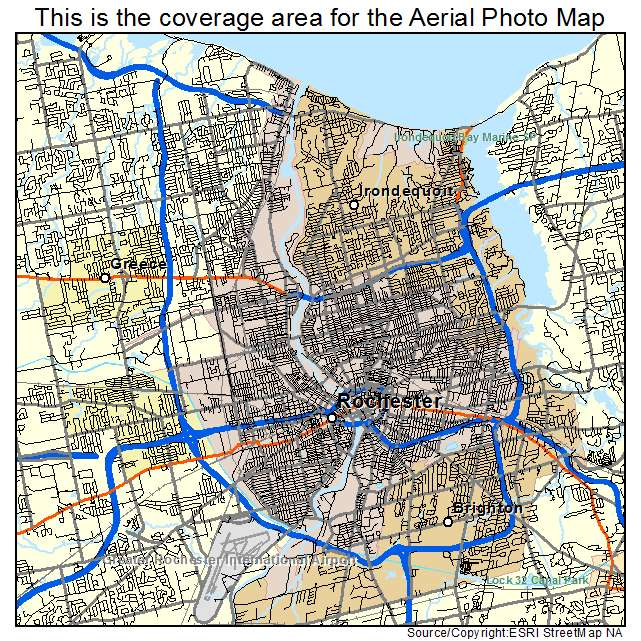 Aerial Photography Map Of Rochester NY New York