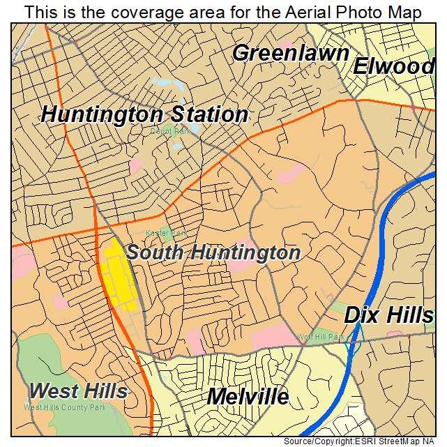 Huntington New York Map.Aerial Photography Map Of South Huntington Ny New York