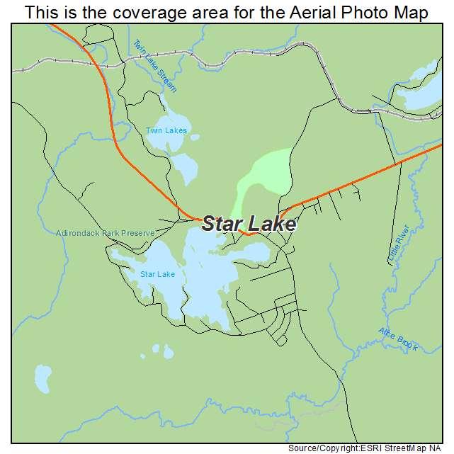 Star Lake Ny >> Aerial Photography Map Of Star Lake Ny New York