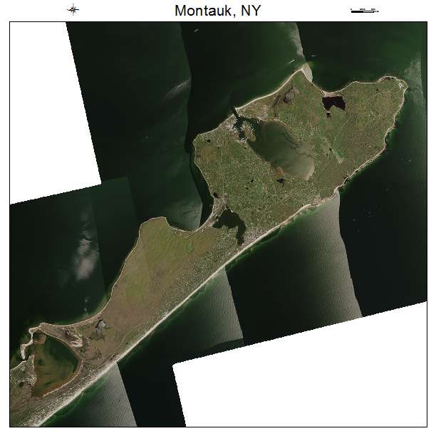Montauk, NY air photo map