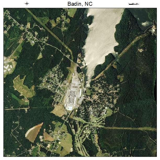 Badin, NC air photo map