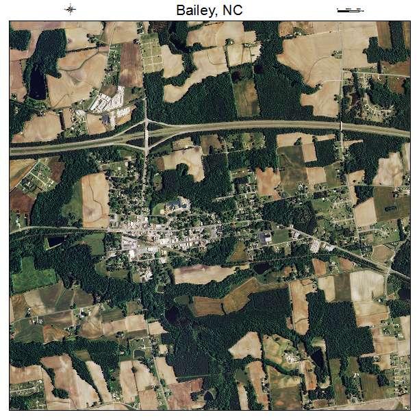 Bailey, NC air photo map