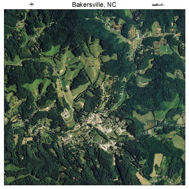 Bakersville, NC air photo map