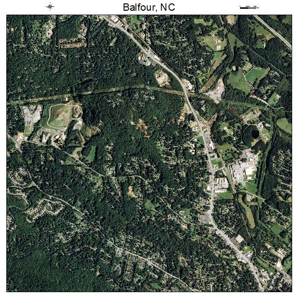 Balfour, NC air photo map