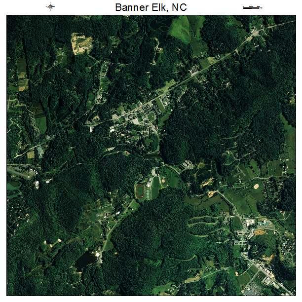 Banner Elk, NC air photo map