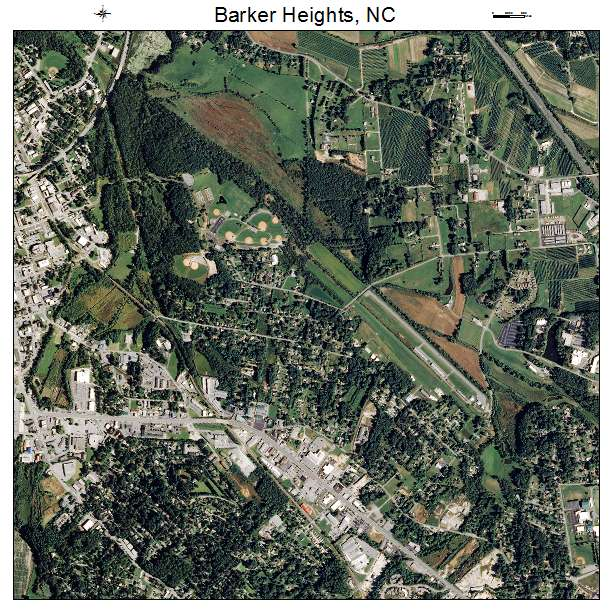 Barker Heights, NC air photo map
