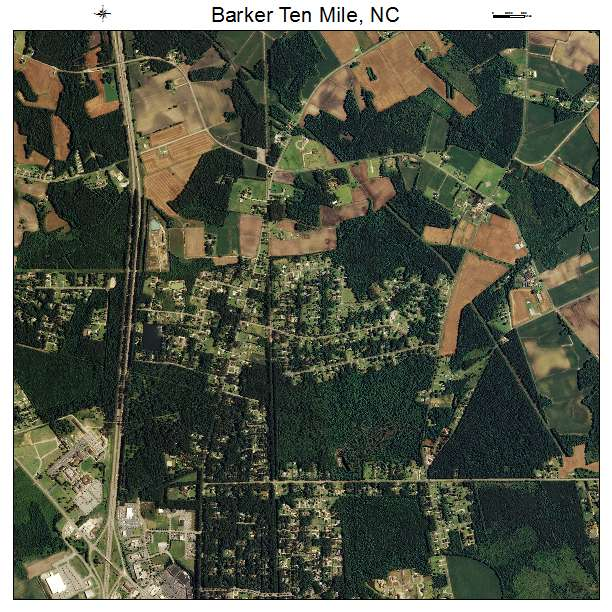 Barker Ten Mile, NC air photo map