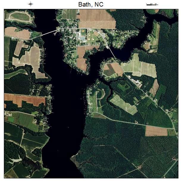 Bath, NC air photo map