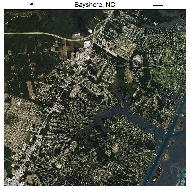 Bayshore, NC air photo map