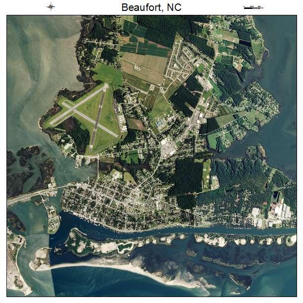 Beaufort, NC air photo map