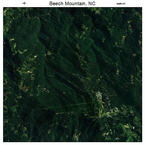 Beech Mountain, NC air photo map