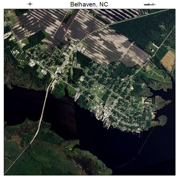 Belhaven, NC air photo map