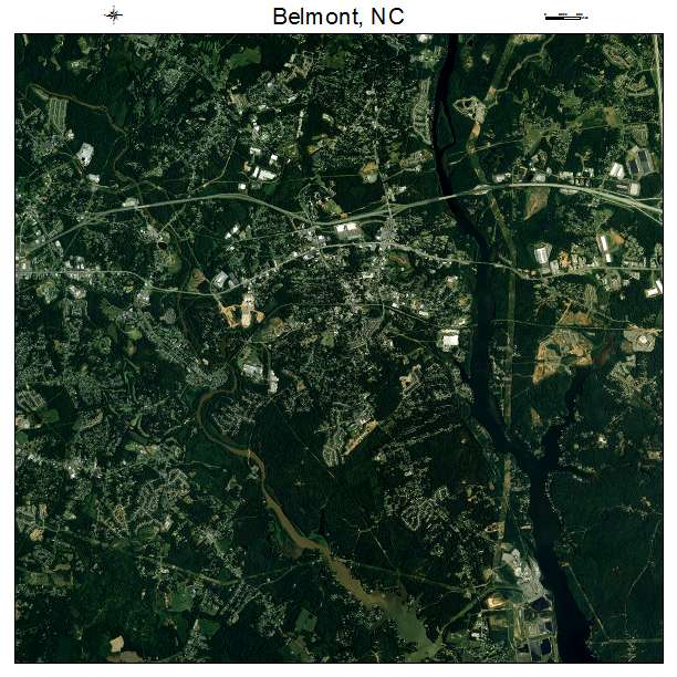 Belmont, NC air photo map