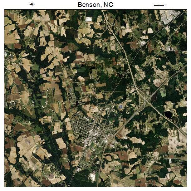 Benson, NC air photo map