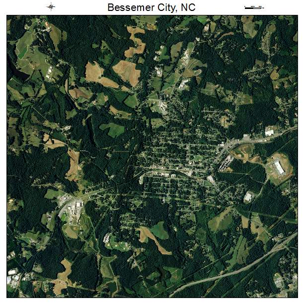 Bessemer City, NC air photo map