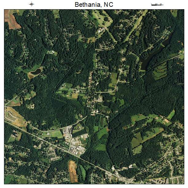 Bethania, NC air photo map