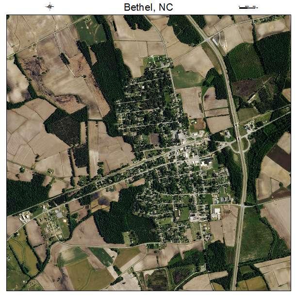 Bethel, NC air photo map