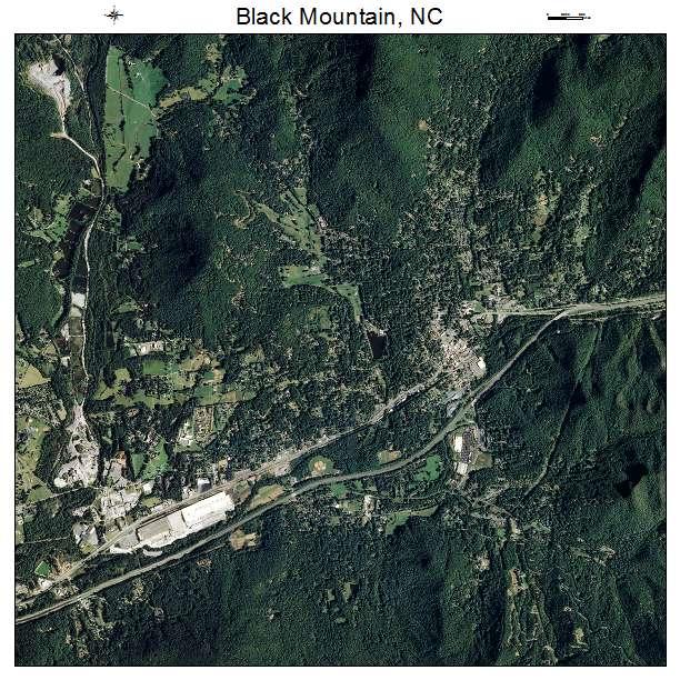 Black Mountain, NC air photo map