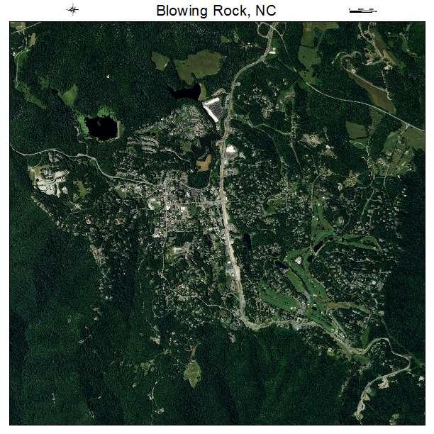Blowing Rock, NC air photo map