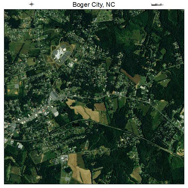 Boger City, NC air photo map