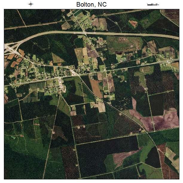 Bolton, NC air photo map