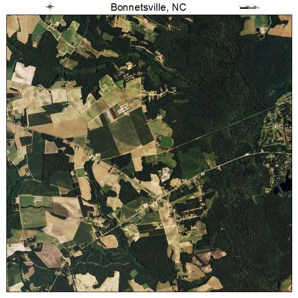 Bonnetsville, NC air photo map