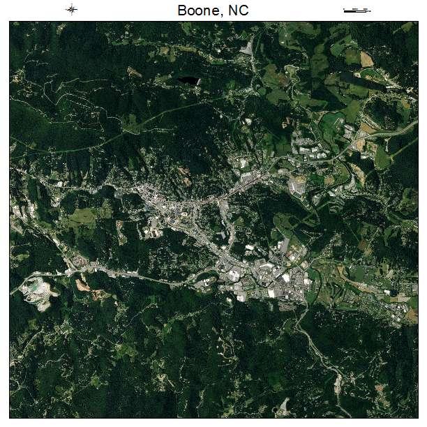Boone, NC air photo map