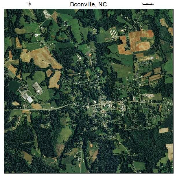 Boonville, NC air photo map