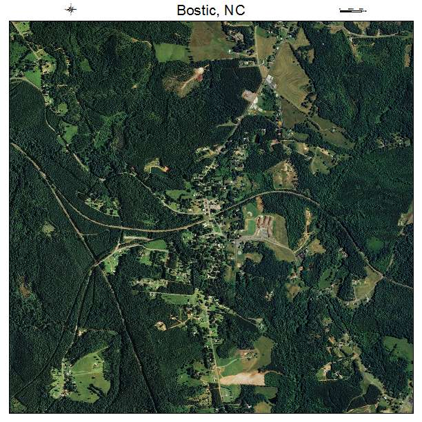 Bostic, NC air photo map