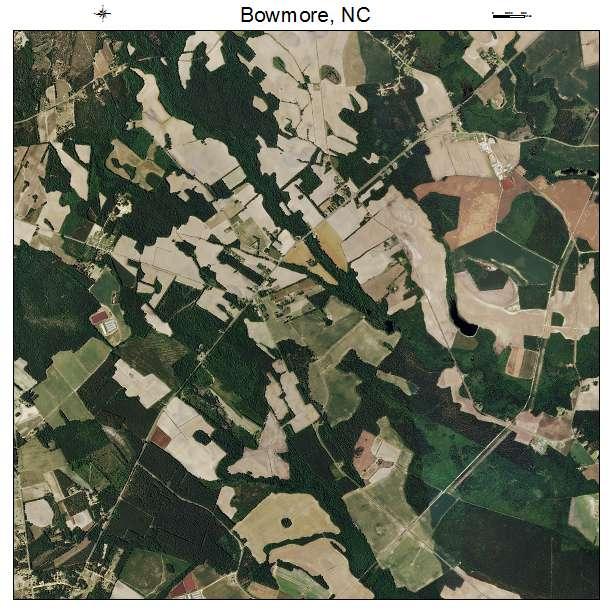 Bowmore, NC air photo map