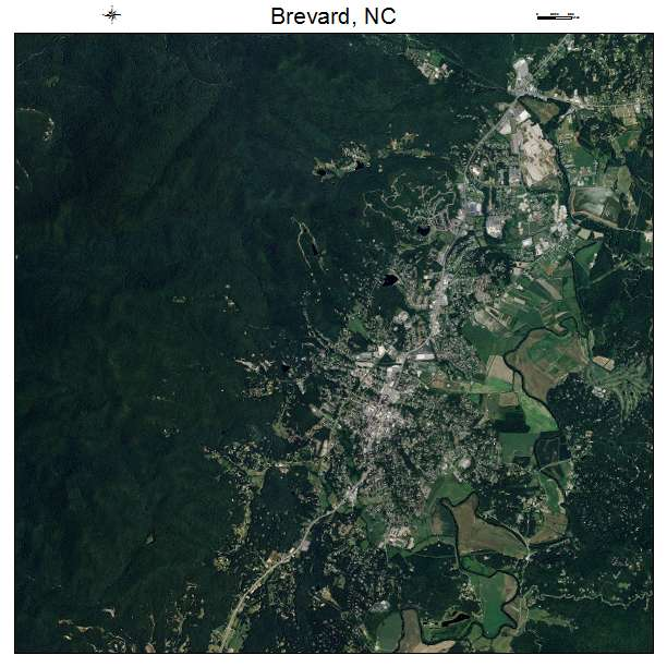 Brevard, NC air photo map