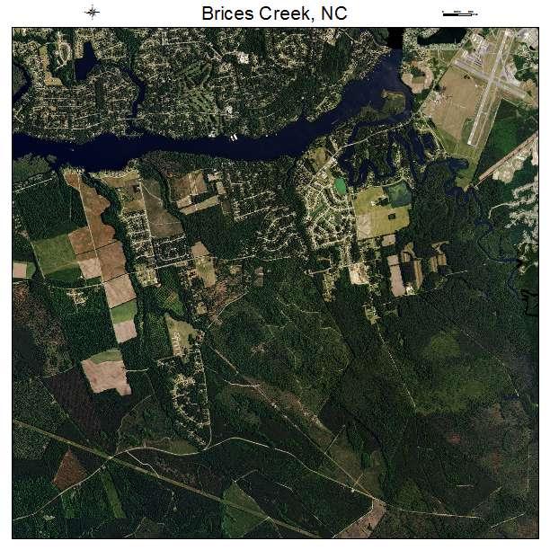 Brices Creek, NC air photo map