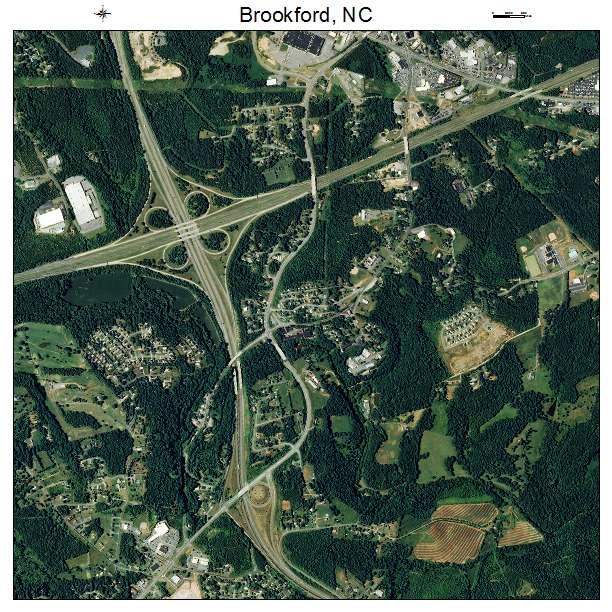 Brookford, NC air photo map
