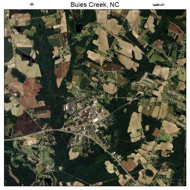 Buies Creek, NC air photo map