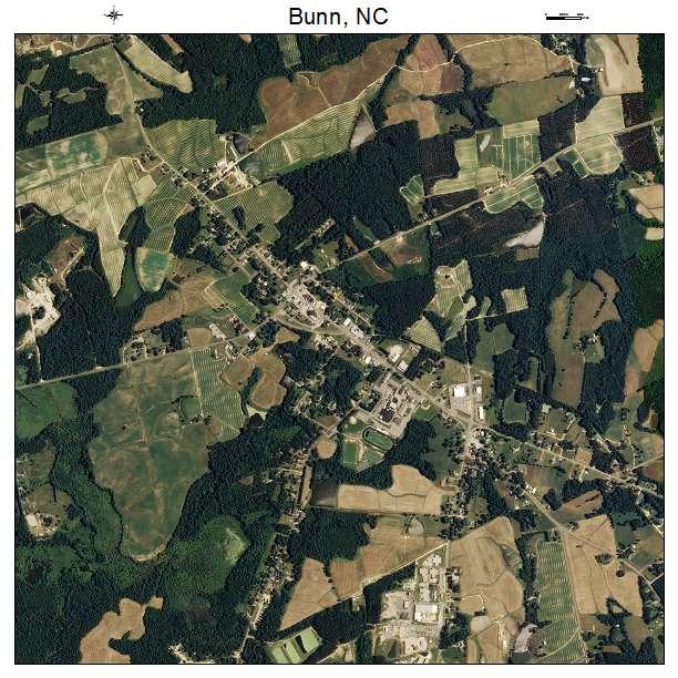 Bunn, NC air photo map