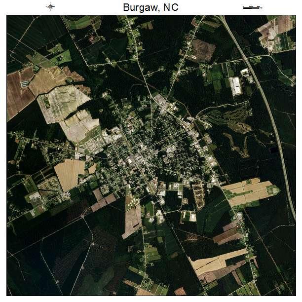 Burgaw, NC air photo map