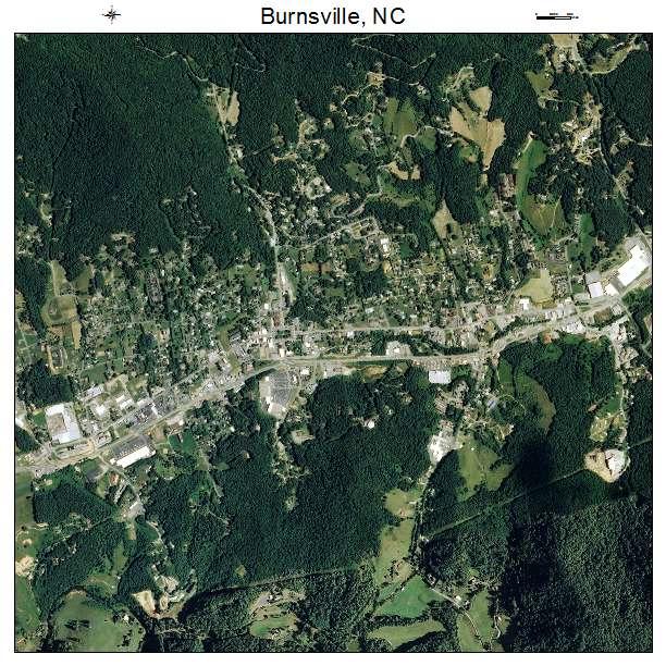 Burnsville, NC air photo map