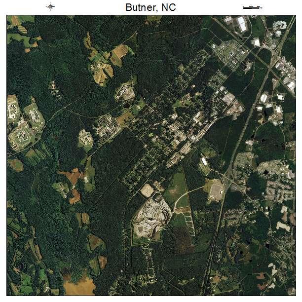 Butner, NC air photo map