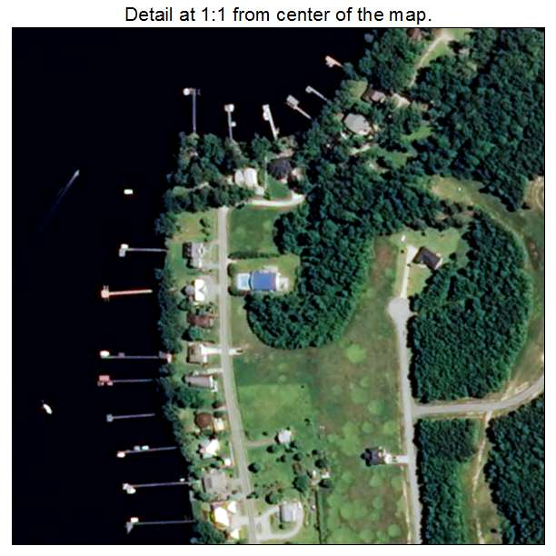 Bath, North Carolina aerial imagery detail