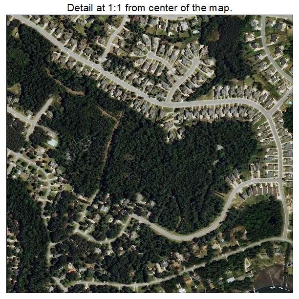 Bayshore, North Carolina aerial imagery detail