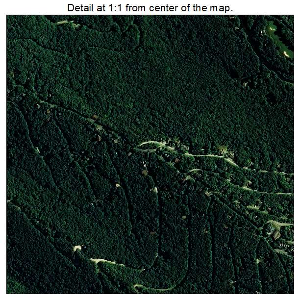 Beech Mountain, North Carolina aerial imagery detail