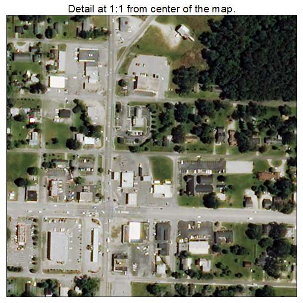 Beulaville, North Carolina aerial imagery detail